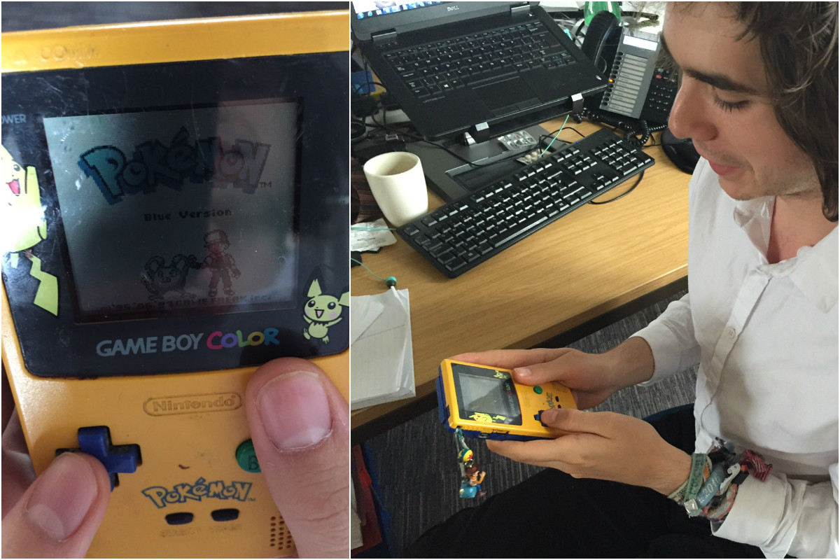 Reporter Arno Bryant isn't letting his lack of tech get in the way of joining in on the Pokemon craze