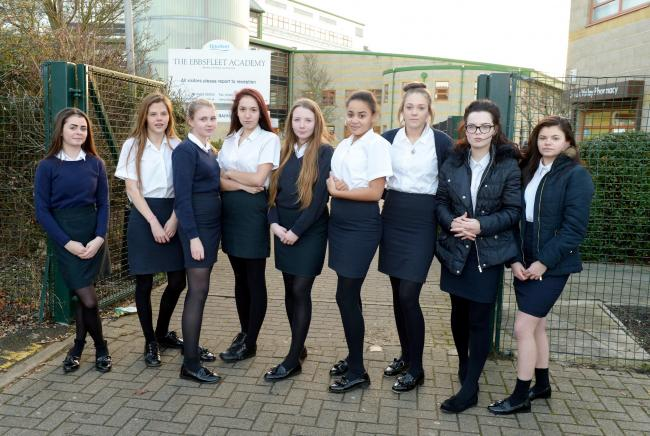 daa15c522a 'Hundreds' of schoolgirls sent home from Ebbsfleet Academy in Swanscombe on  first day back at school because their skirts were deemed too short