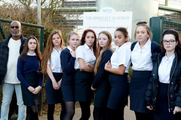 ba4c2395a4 Hundreds' of schoolgirls sent home from Ebbsfleet Academy in ...