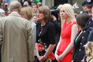"Prince Philip told this lady in red ""I would get arrested if I unzipped that dress"" on a visit to Bromley in 2012"