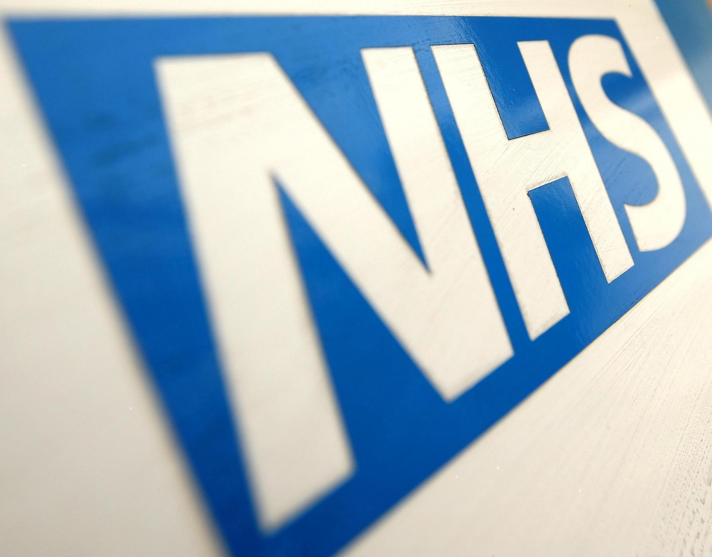 Embargoed to 0001 Sunday January 4..File photo dated 07/12/10 of an NHS logo as tens of thousands of NHS staff have been injured at work in recent years but the number is coming down, Scottish health board figures show. PRESS ASSOCIATION Photo. Issue date
