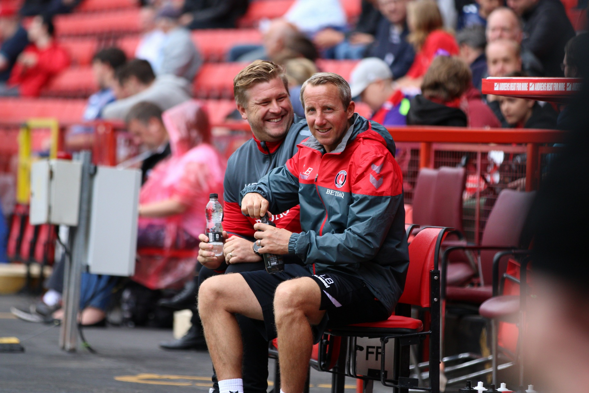 Karl Robinson and Lee Bowyer