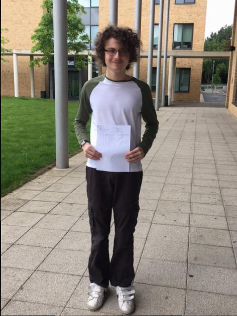 Year 11 student achieves outstanding grades at GCSE and A Level at Stationers' Crown Woods Academy