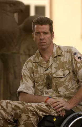 Major Phil Packer is now a paraplegic after a rocket attack in Iraq