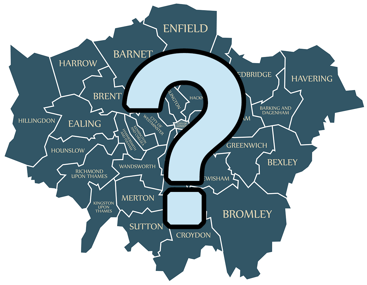 Interactive map will help you choose which London borough you should