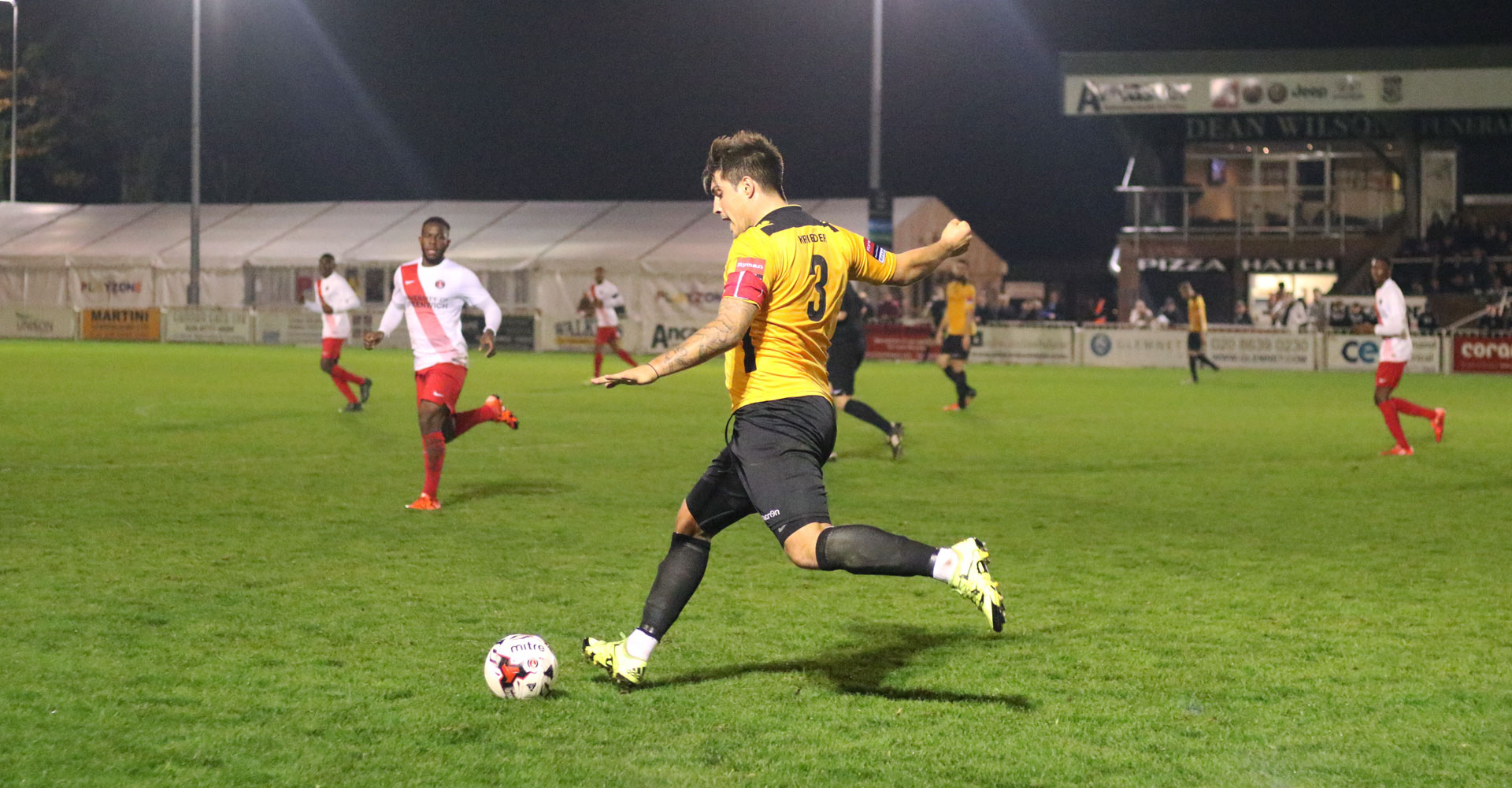 Cray Wanderers take on Charlton Athletic U23s in the Kent Senior Cup