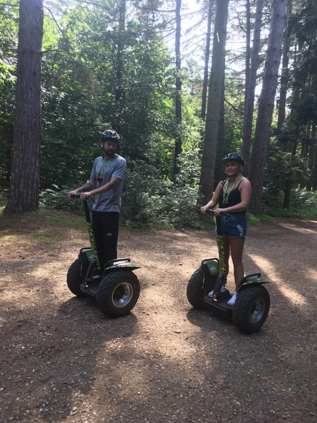 Forest Segway through picturesque Black Park in Buckinghamshire