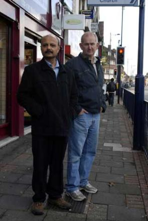 Welling High Street traders Jay Shah and John Setford BE12393