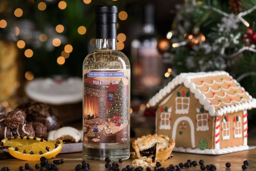 Yuletide Gin from the Boutique-y Gin, contains Christmas tree needles