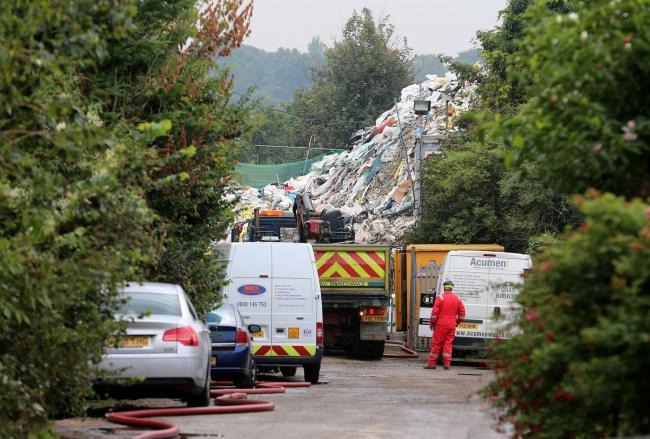 The Waste4Fuel rubbish pile has finally been cleared