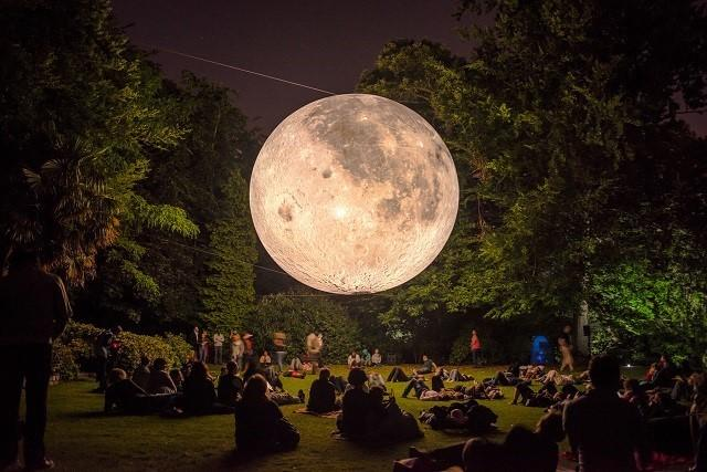 The moon itself is landing in Greenwich this weekend