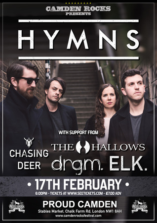 Camden Rocks presents HYMNS and more at Proud Camden