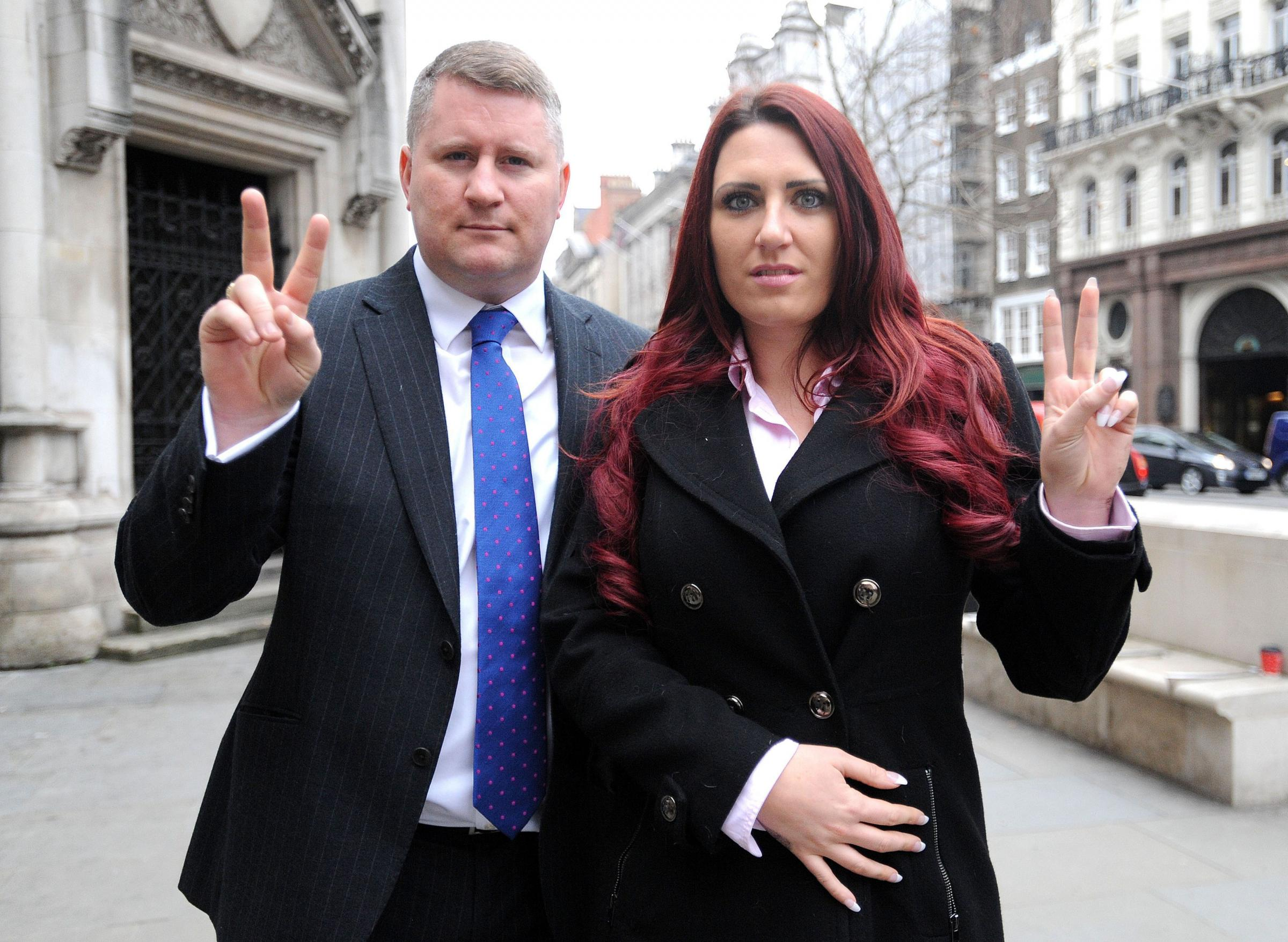 Britain First leaders Paul Golding and Jayda Fransen. Credit: Nick Ansell/PA Wire