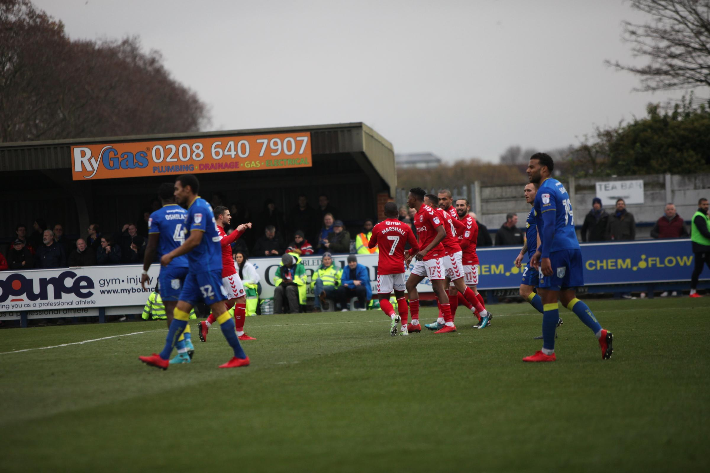 Charlton celebrate their equaliser | Picture: TomWestPhotography