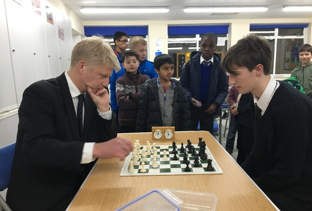 Jo Johnson took on Edwin in a game of chess