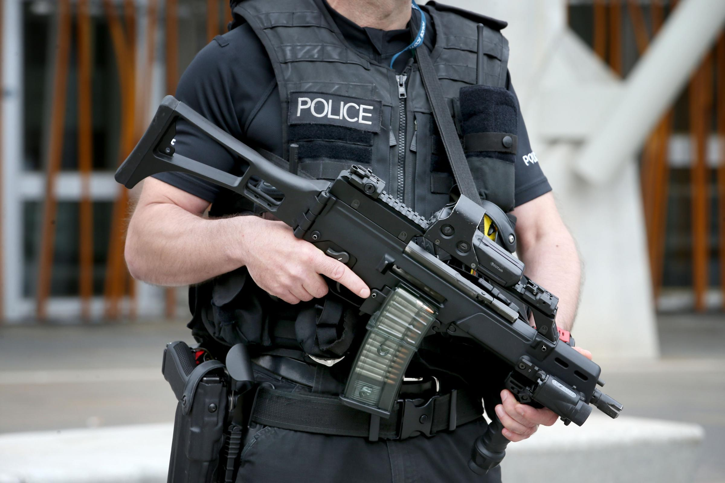 A 21-year-old man was arrested in Woolwich during an armed police counter-terror operation