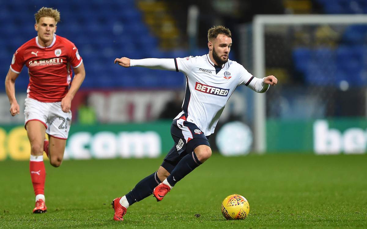 Adam Armstrong during a loan spell with Bolton