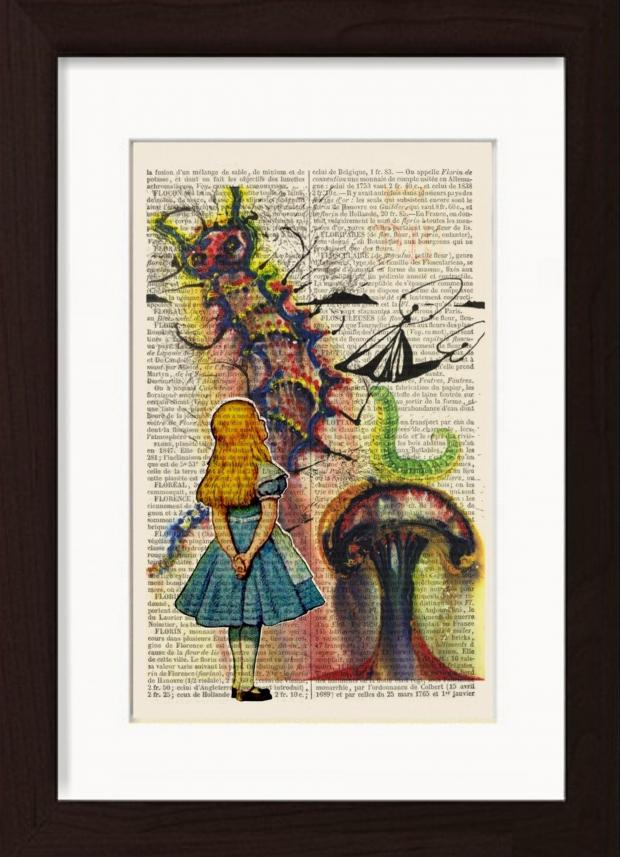 News Shopper: Handmade at Amazon Alice In Wonderland Print by Dictionary Page Print, £18