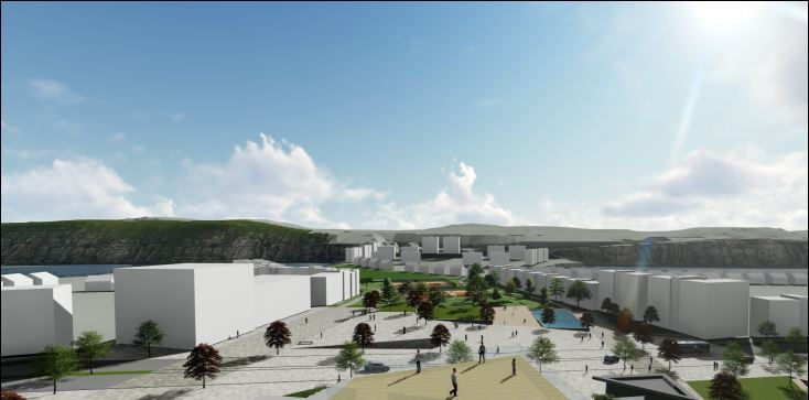 Artist impression of the Eastern Quarry scheme