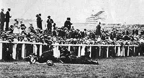 Emily Wilding Davison threw herself in front of the King's horse at the Derby