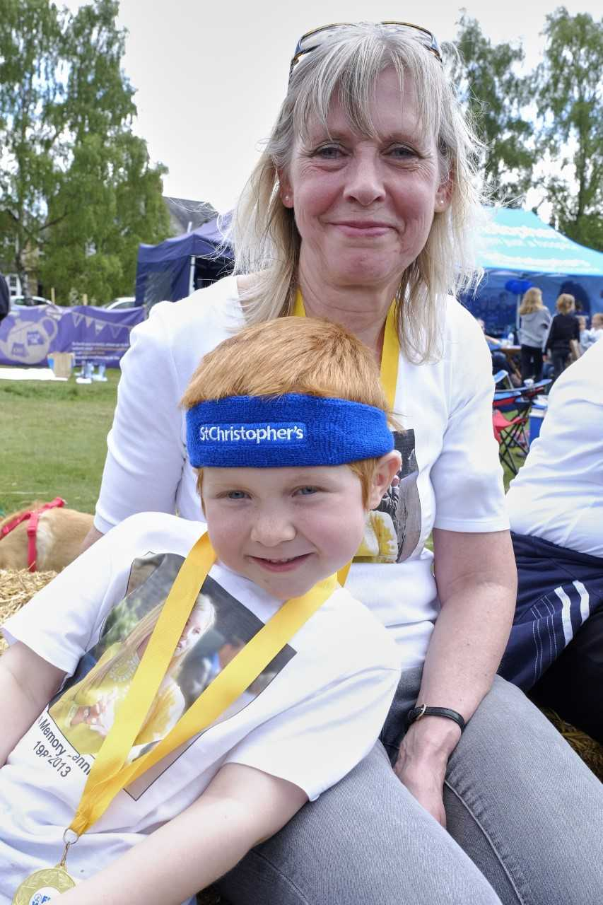 Debbie Slaughter with her grandson William at last year's funraising event