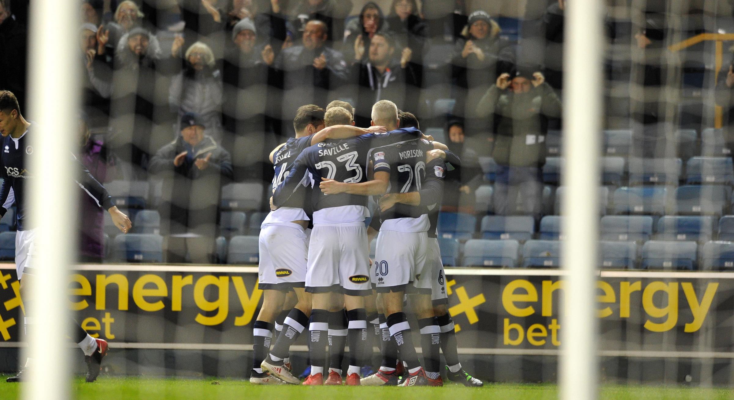 Millwall players celebrate against Sheffield Wednesday