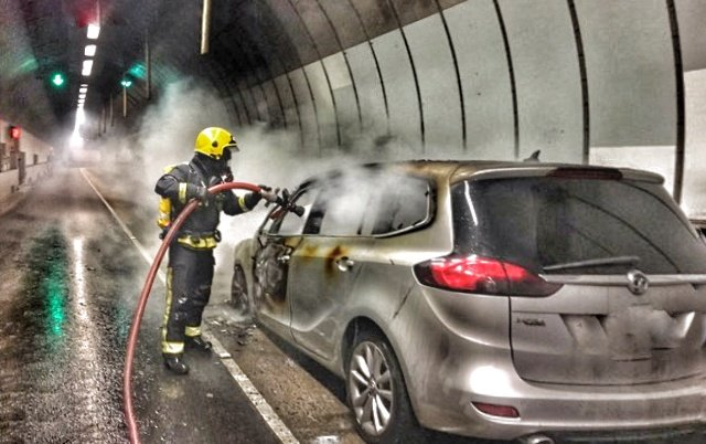The aftermath of the fire in Blackwall Tunnel. Photo: LFB Greenwich