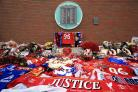 A memorial at Anfield for the Hillsborough disaster