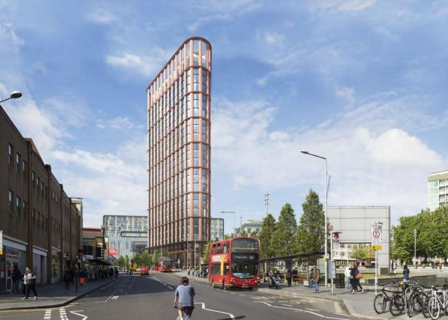 Artist impressions of the planned tower