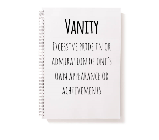 Vanity and Pride are NOT synonyms by Anashe Chigwende, Dartford Grammar Girls