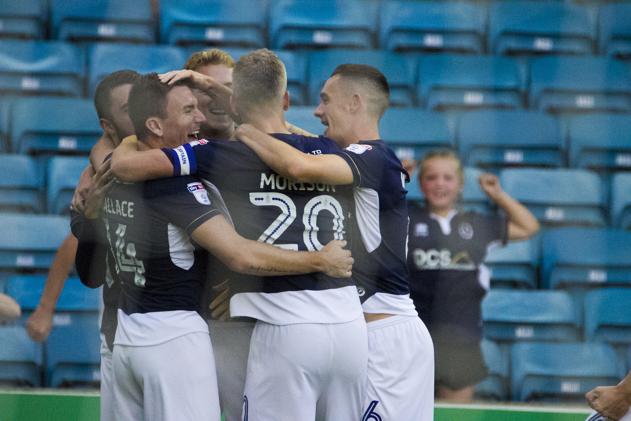 Millwall players celebrate | Picture: Benjamin Peters Photography