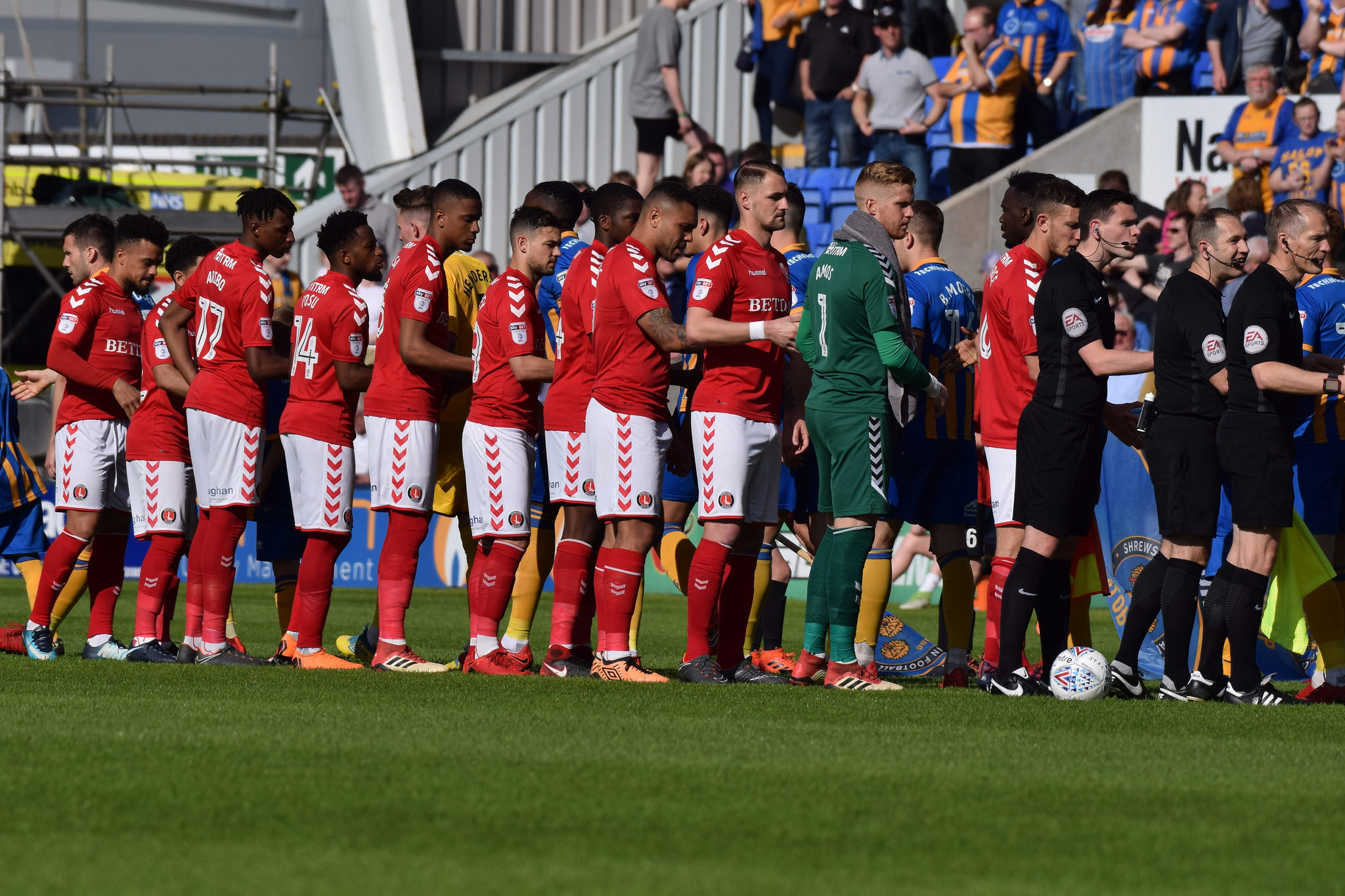 Charlton players at New Meadow | Picture: Kyle Andrews