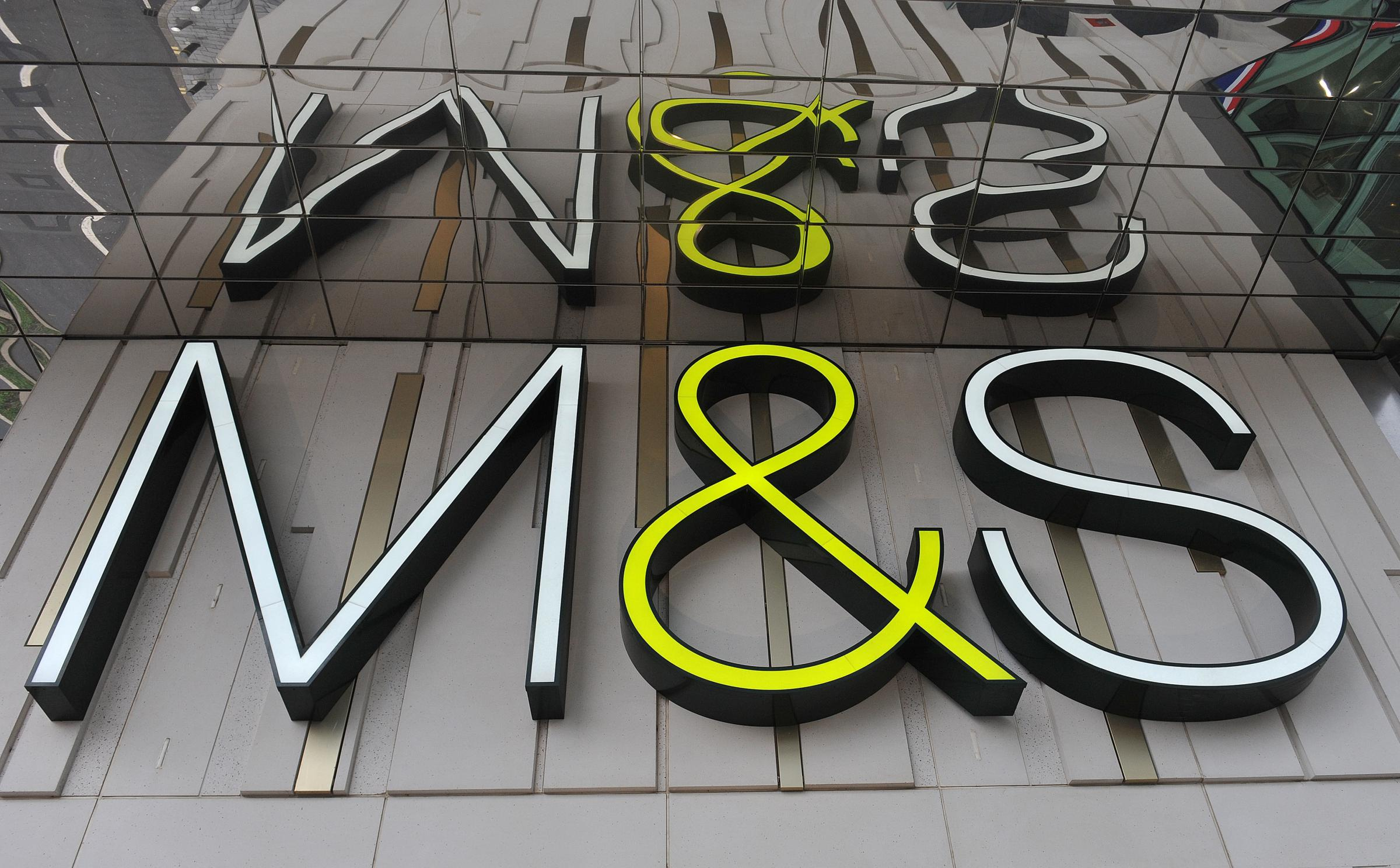 Marks and Spencer sign as the company said it is to close 100 stores by 2022 as it accelerates a transformation programme. Nick Ansell/PA Wire