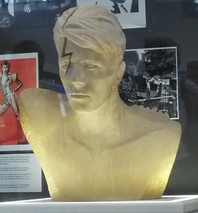 The bust of David Bowie in Beckenham, created by Maria Primolan
