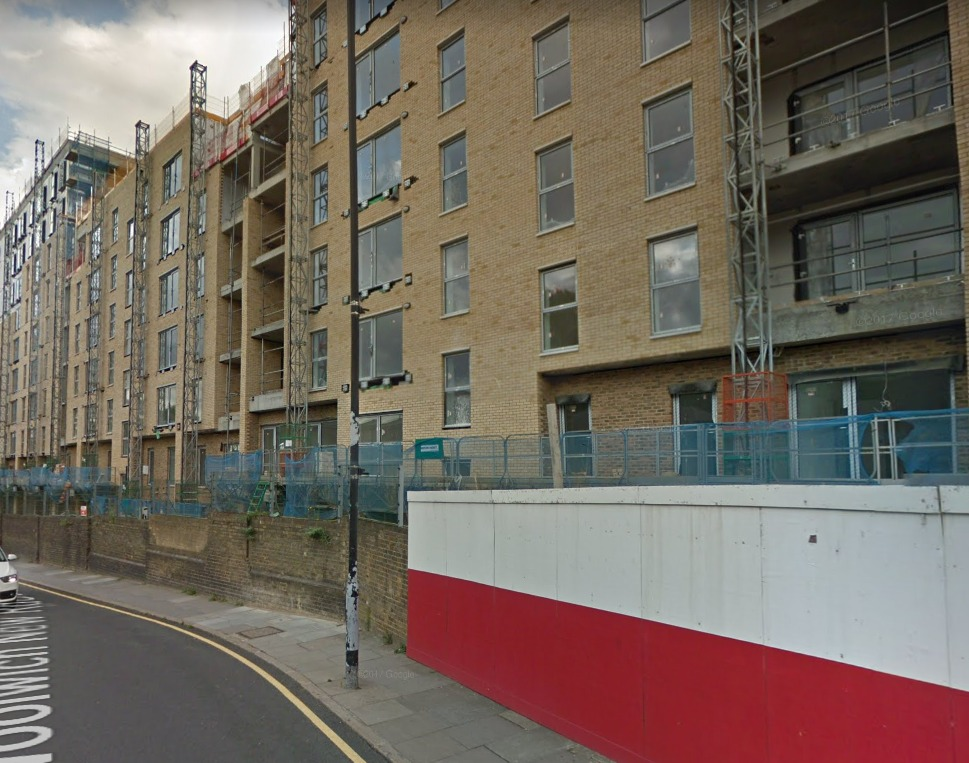 Paul lives in the Trinity Walk development in Woolwich. Photo: Google Maps street view