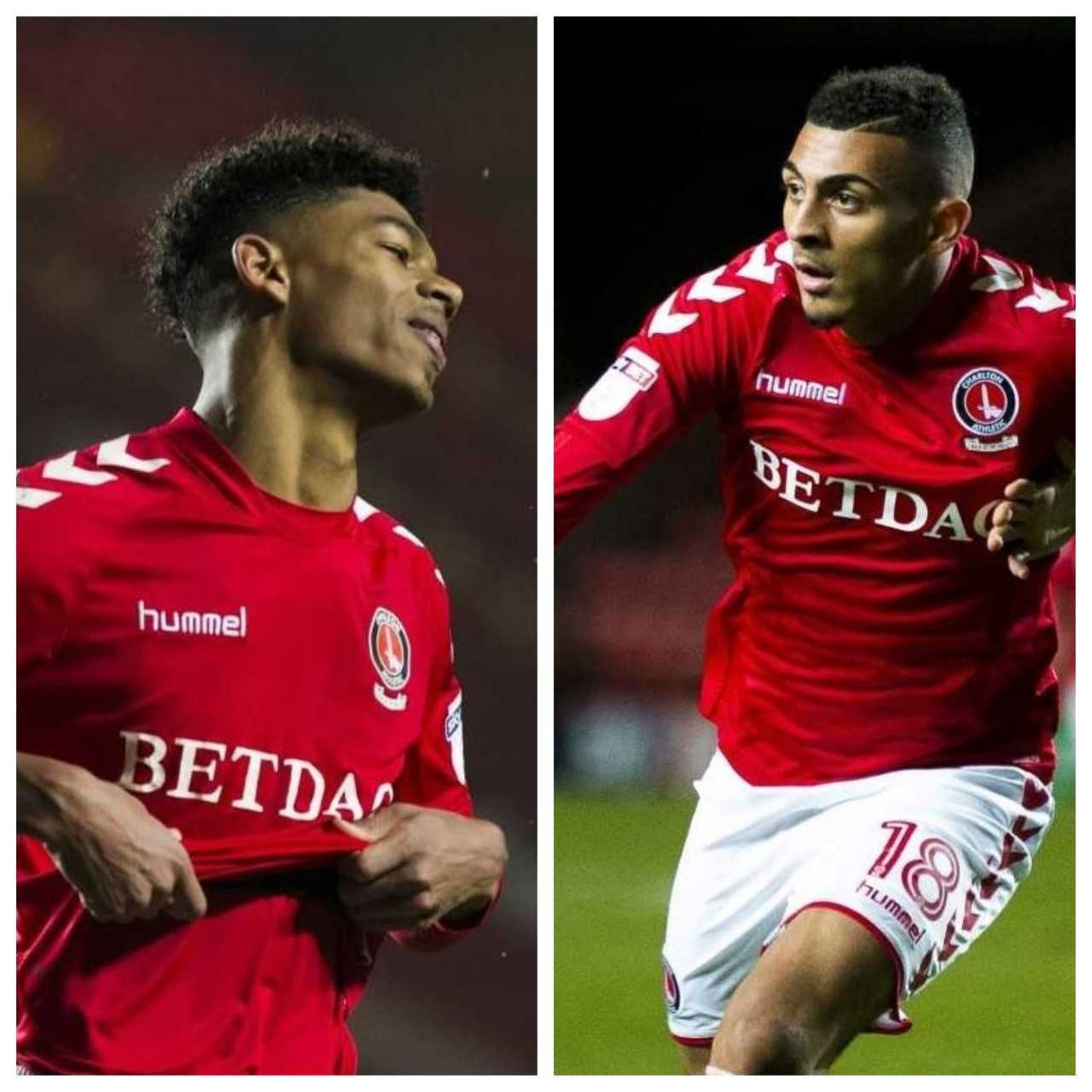 Charlton footballers Reeco Hackett-Fairchild and Karlan Ahearne-Grant. Photos: Benjamin Peters Photography