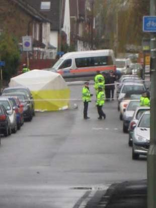 The area was cordoned off after the victim was discovered