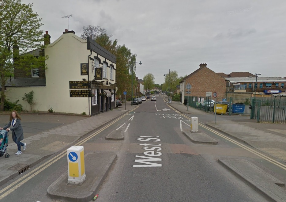 West Street is currently closed to the public. Photo: Google Maps street view.