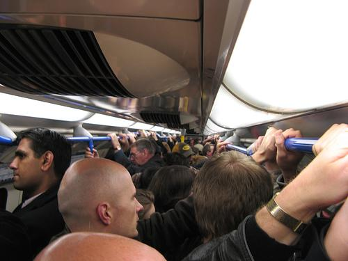 News Shopper: A typical tube train at 8 o'clock on a monday morning