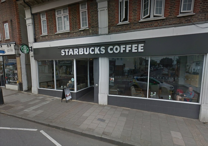 Starhucks West Wickham High Street. Google Street View.