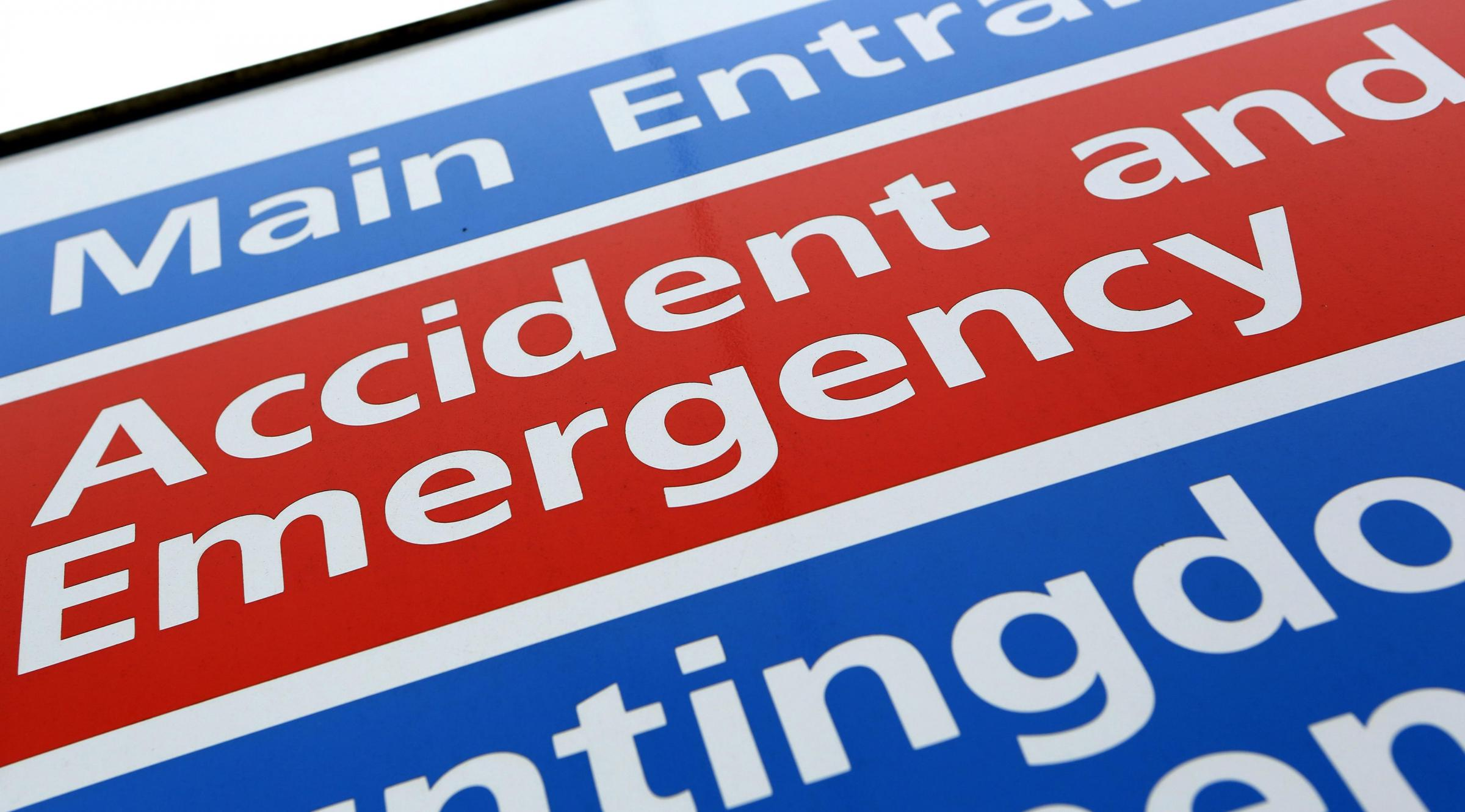 File photo dated 21/05/13 of a general sign for an Accident and Emergency department at a National Health Service (NHS) hospital. The number of people attending accident and emergency departments increased by 2% in 2017/18 compared with the year before, a