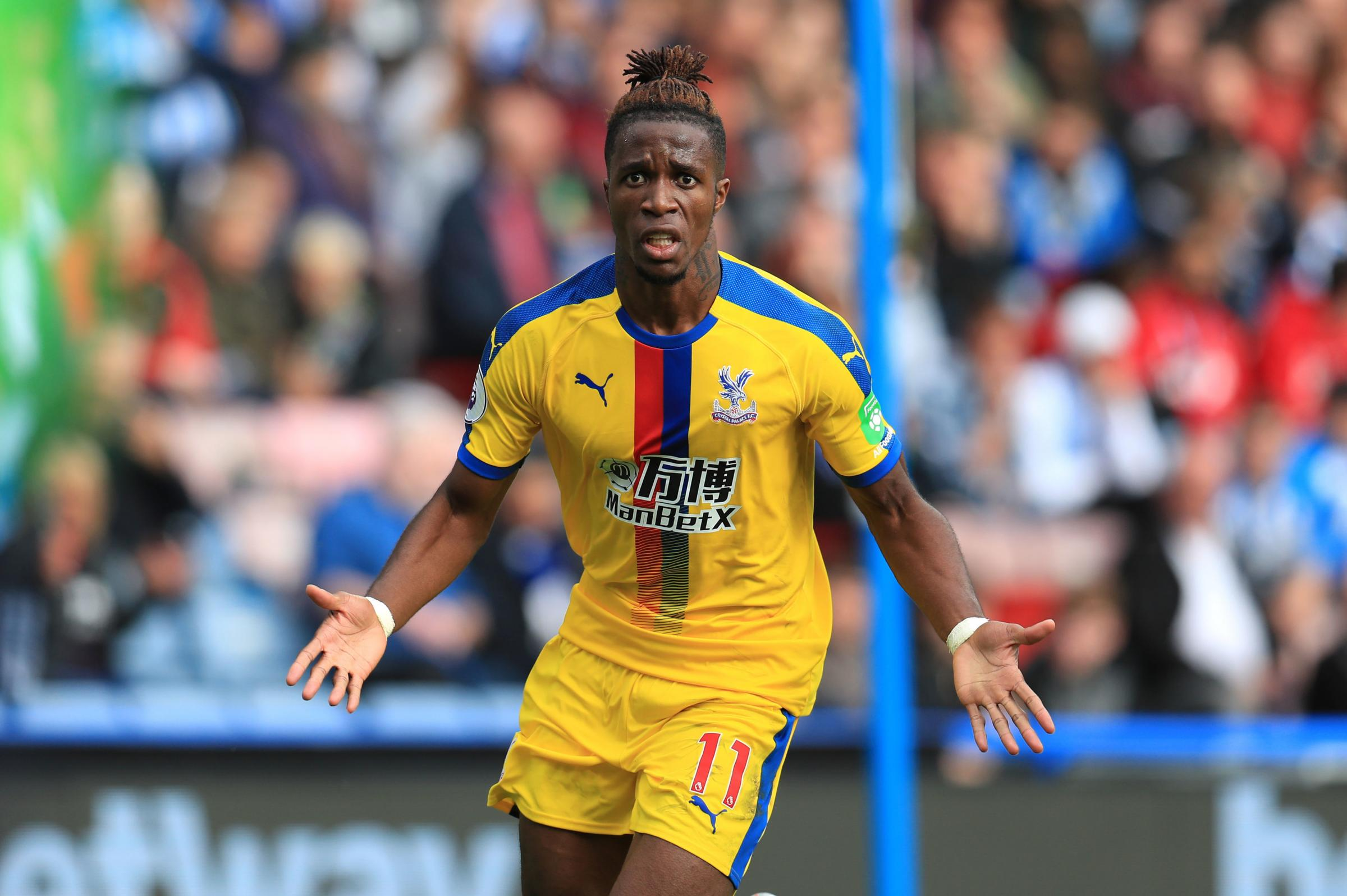 Crystal Palace's Wilfried Zaha celebrates (pic:PA)
