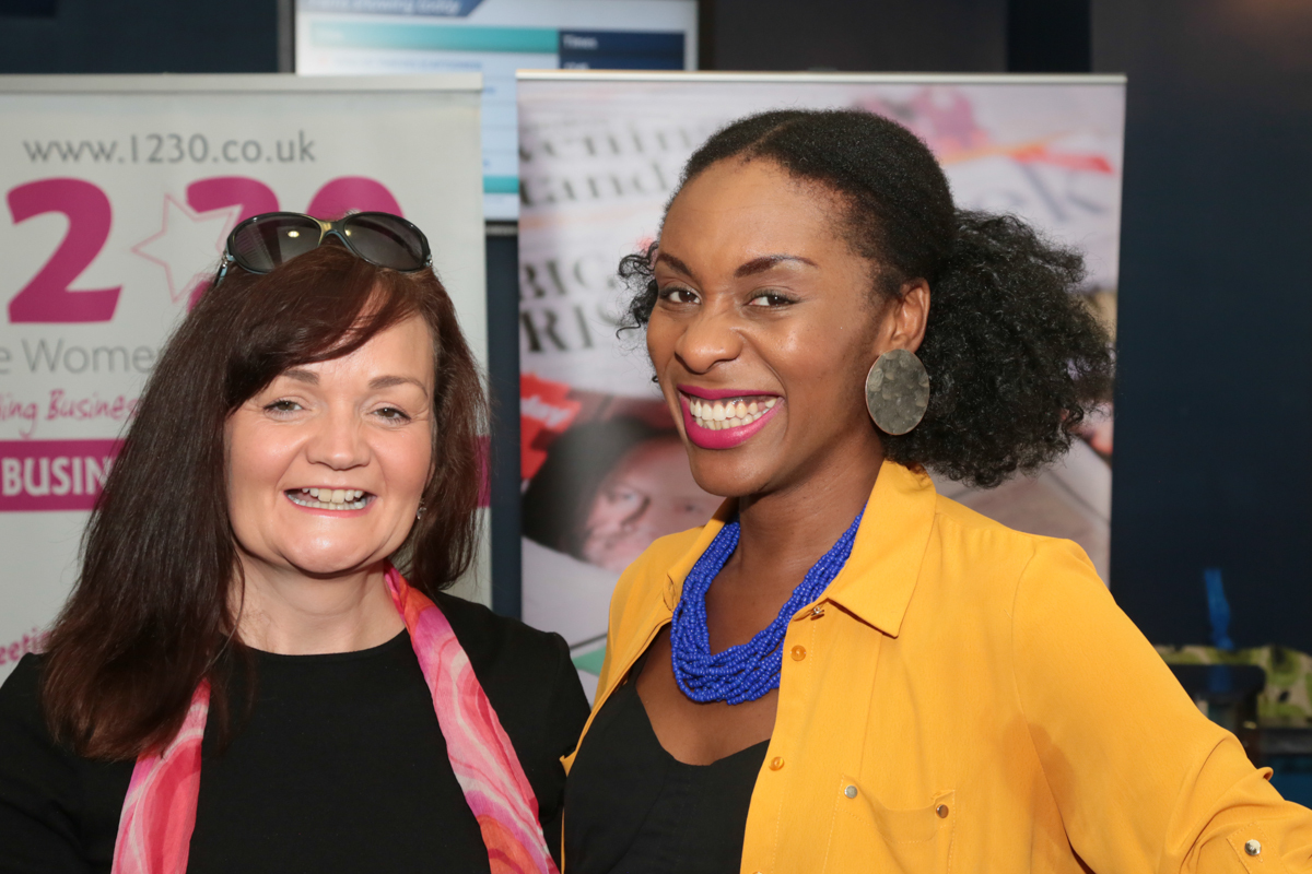 Anna Wright, owner of coaching academy In-Indigo Ltd, and MC Mathy Lisika-Misende