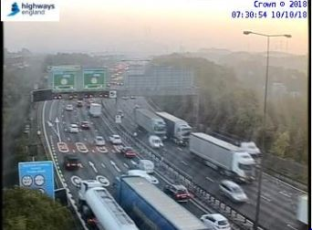 Long delays on Dartford Crossing after crash between car and lorry