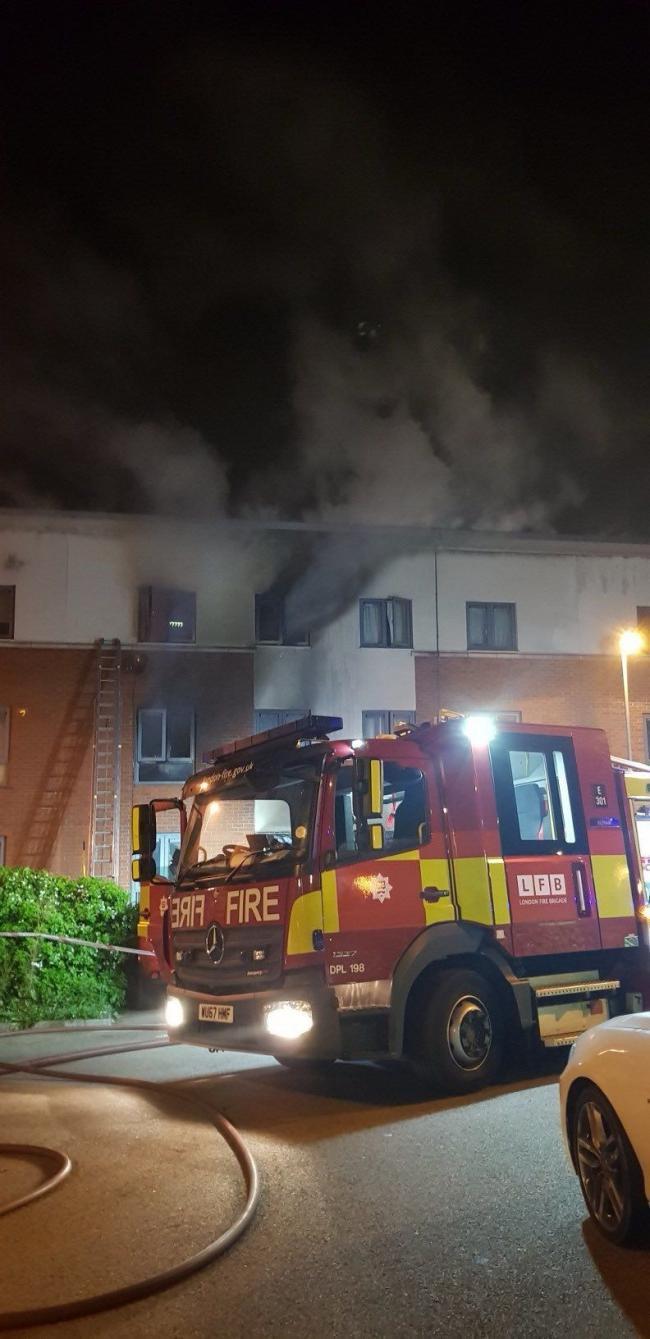 Fire in Centurion Square  on September 6
