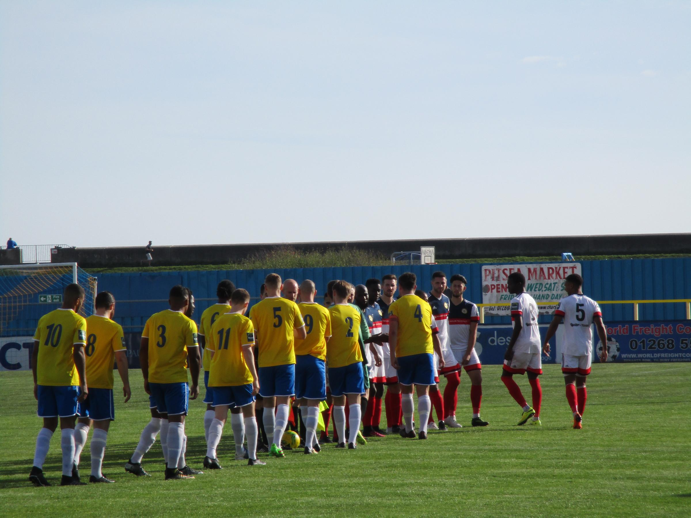 On a warm and sunny afternoon Cray travelled to Canvey Island in the FA Trophy
