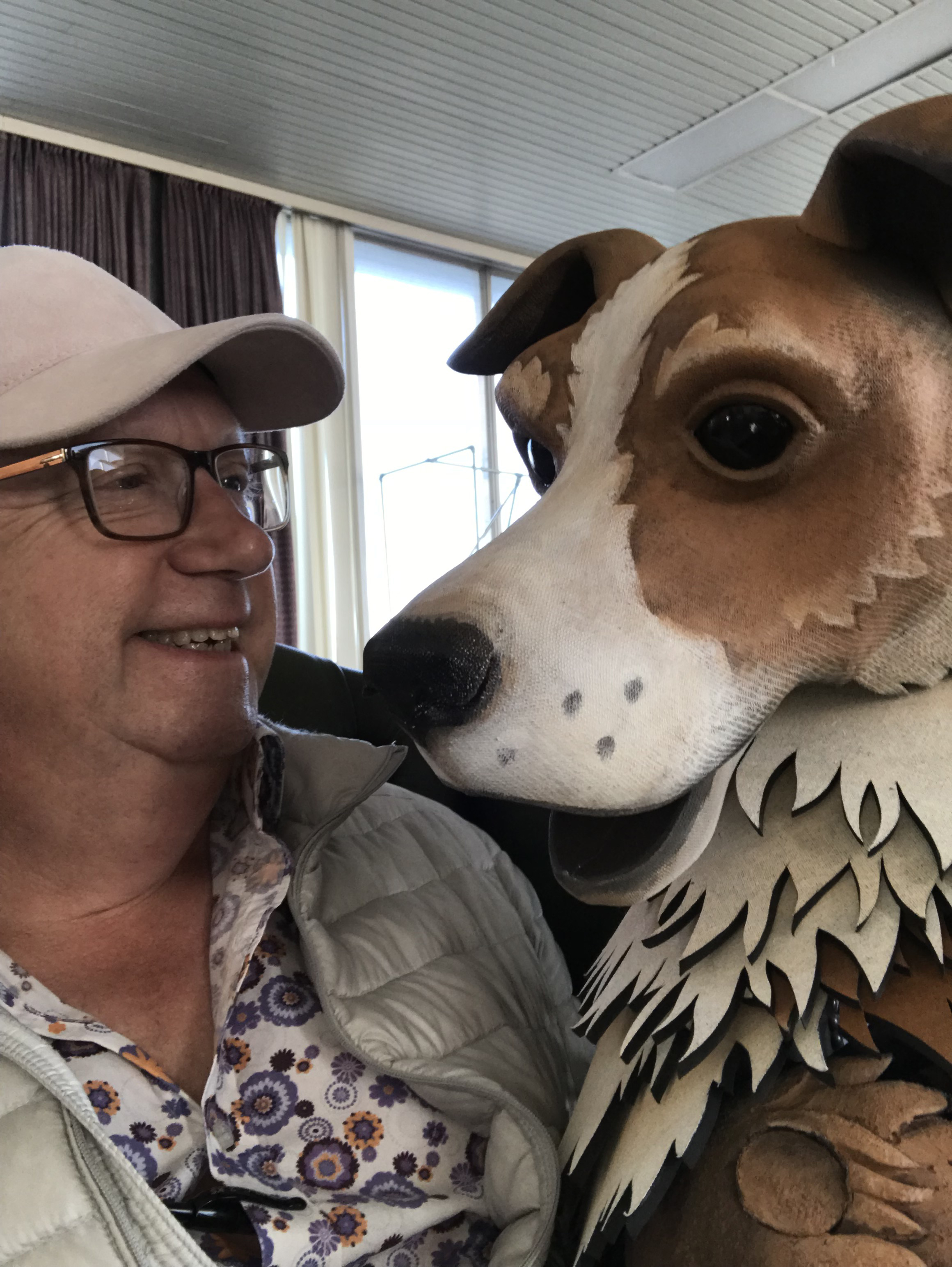 Jip the dog stars with Mark Williams in Doctor Dolittle