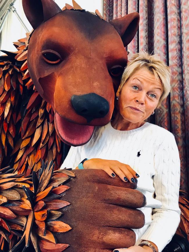 Vicky Entwistle with a bear