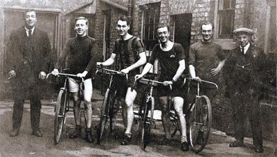 News Shopper: Harry, second from left, with the local cycle club