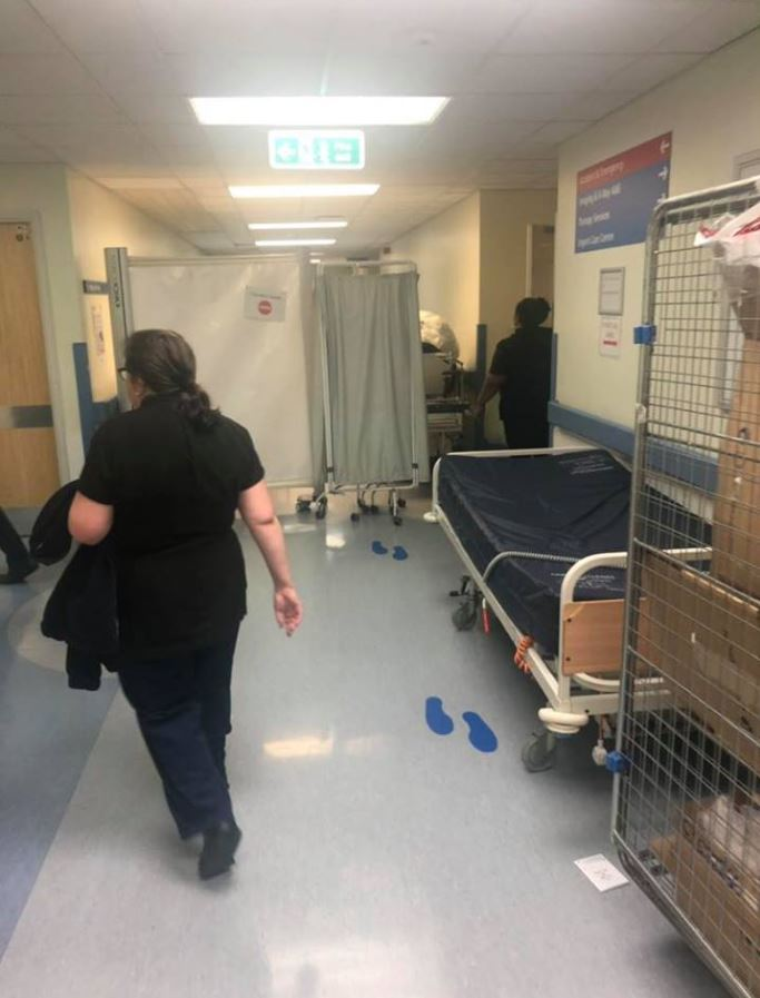Neil took this photo when at the hospital - he said that people were hooked up to monitors in the corridors
